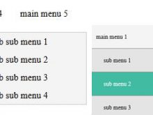 Responsive Dropdown Multi-Level Menu