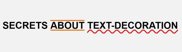 secrets about text decoration