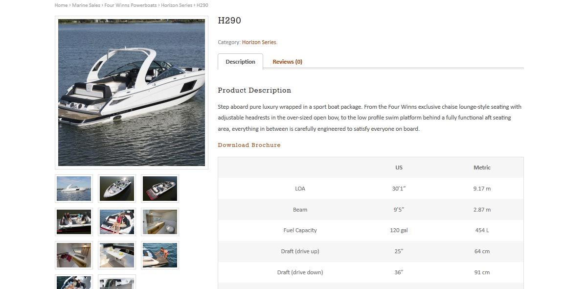 Russell Powerboats - product page